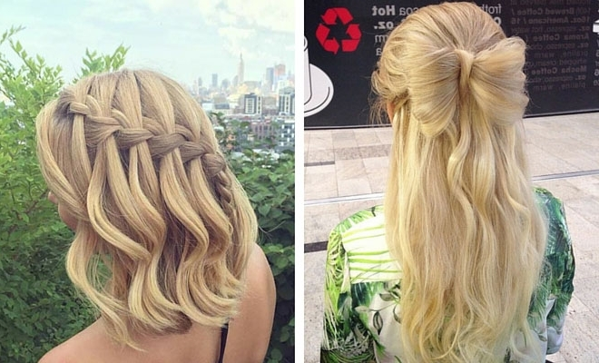 31 Half Up, Half Down Prom Hairstyles | Stayglam Intended For Most Up To Date Easy Long Hair Half Updo Hairstyles (View 5 of 15)