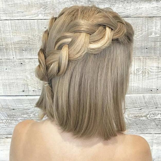 31 Half Up, Half Down Prom Hairstyles   Stayglam Regarding Most Popular Half Updo Hairstyles For Medium Hair (View 14 of 15)