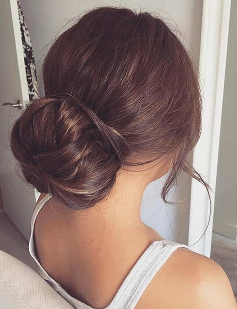 31 Most Beautiful Updos For Prom | Stayglam In Newest Easy Low Bun Updo Hairstyles (View 5 of 15)