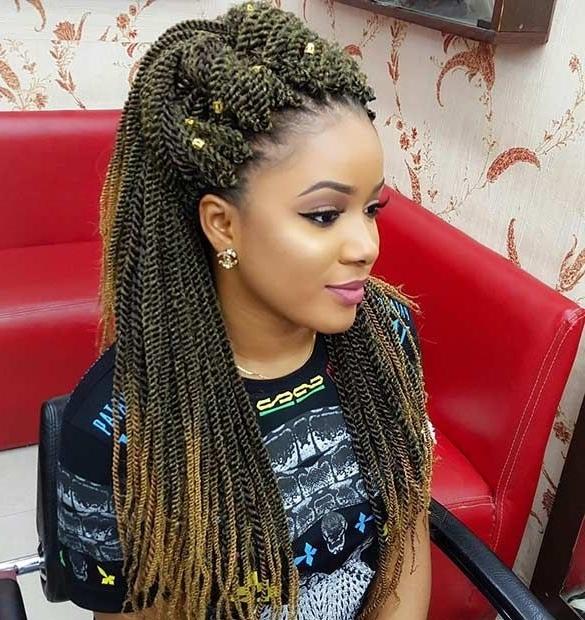 31 Stunning Crochet Twist Hairstyles   Crochet Senegalese Twist Within Most Current Senegalese Twist Styles Updo Hairstyles (View 4 of 15)