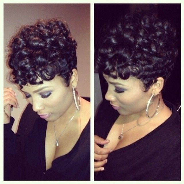 33 Best Short Hairstyles For Black Women Images On Pinterest | Short Regarding Most Recent Updos For Short Hair For African American (View 14 of 15)