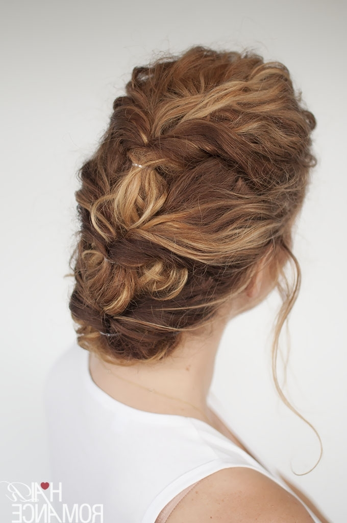 33 Modern Curly Hairstyles That Will Slay On Your Wedding Day | A Throughout Most Recent Easy Updos For Long Curly Hair (View 2 of 15)