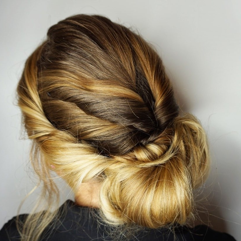 34 Easy Updos For Long Hair Trending For 2018 In Most Popular Long Hair Updo Hairstyles For Work (View 7 of 15)