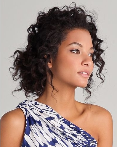 35 Chic & Messy Updo Hairstyles For Luxuriously Long Hair – Part 7 With Regard To Recent Loose Updos For Curly Hair (View 12 of 15)