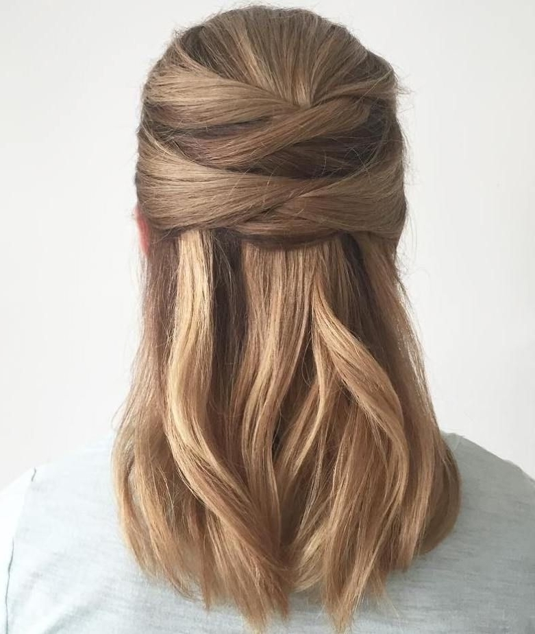 35 Fetching Hairstyles For Straight Hair To Sport This Season | Half Regarding Most Recent Straight Half Updo Hairstyles (View 4 of 15)