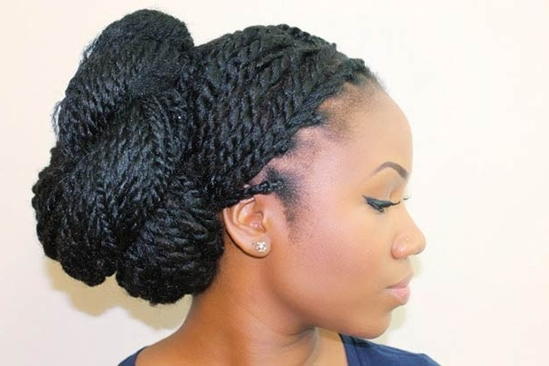35 Stunning Kinky Twists Styles You'll Love To Try! In Most Recent Knot Twist Updo Hairstyles (View 6 of 15)