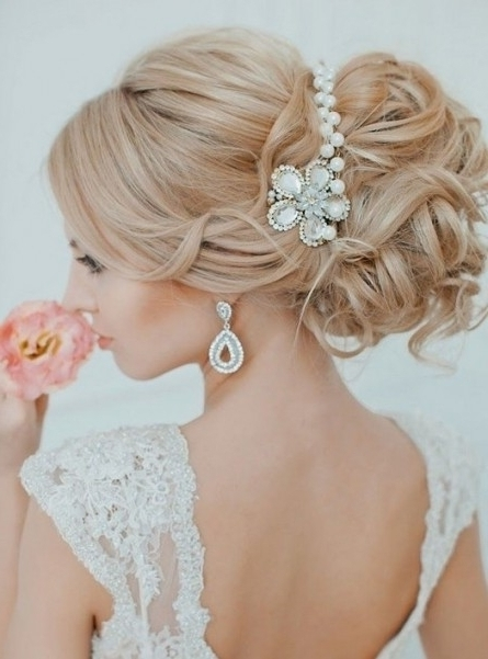 35 Wedding Hairstyles: Discover Next Year's Top Trends For Brides In With Regard To Newest Bride Updo Hairstyles (View 2 of 15)
