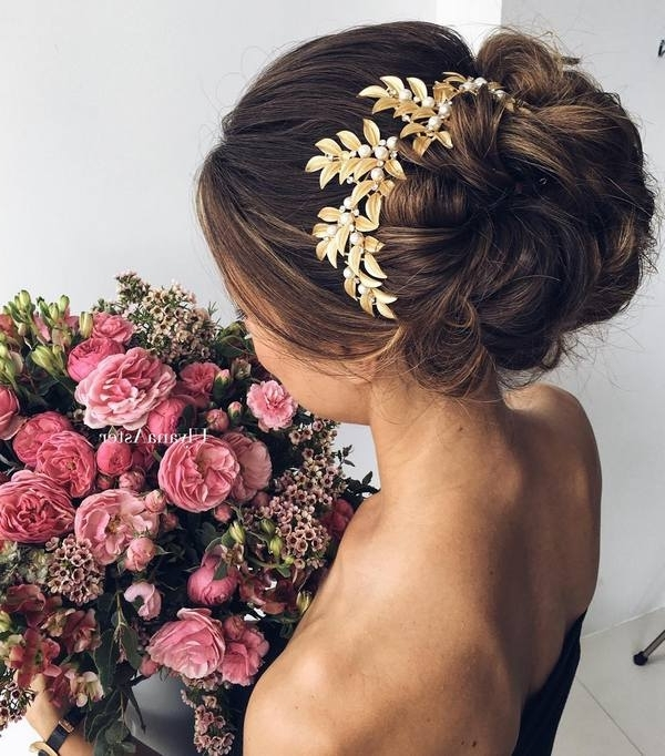 35 Wedding Updo Hairstyles For Long Hair From Ulyana Aster | Deer For Most Popular Long Hair Updo Accessories (View 9 of 15)