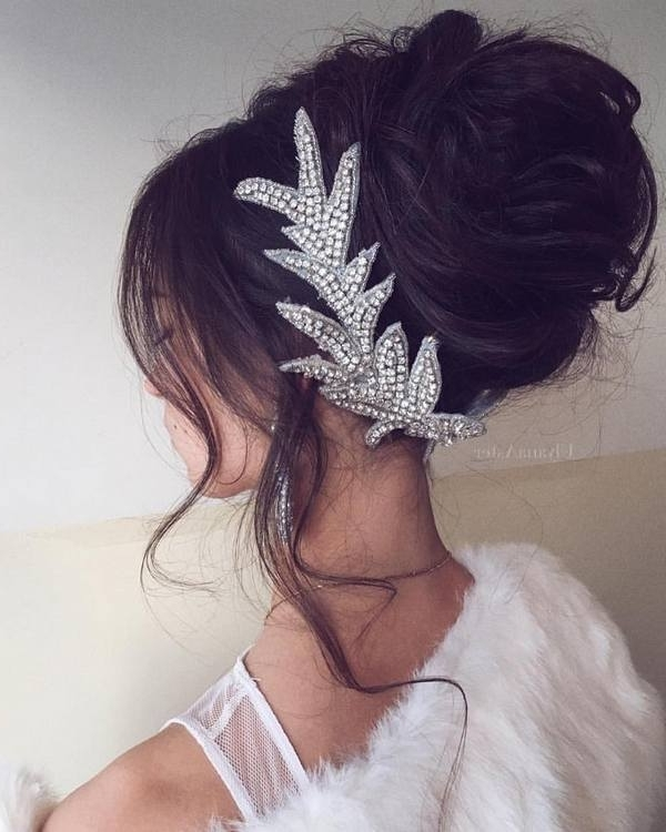 35 Wedding Updo Hairstyles For Long Hair From Ulyana Aster | Deer Inside Most Recently Long Hair Updo Accessories (View 6 of 15)