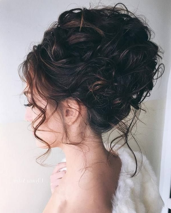 35 Wedding Updo Hairstyles For Long Hair From Ulyana Aster | Wedding Throughout Latest Curly Updo Hairstyles (View 2 of 15)