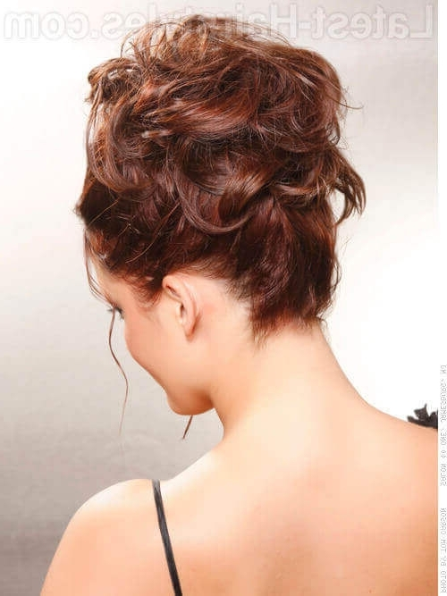 36 Curly Updos For Curly Hair (See These Cute Ideas For 2018) In Most Popular Casual Updos For Curly Hair (View 2 of 15)