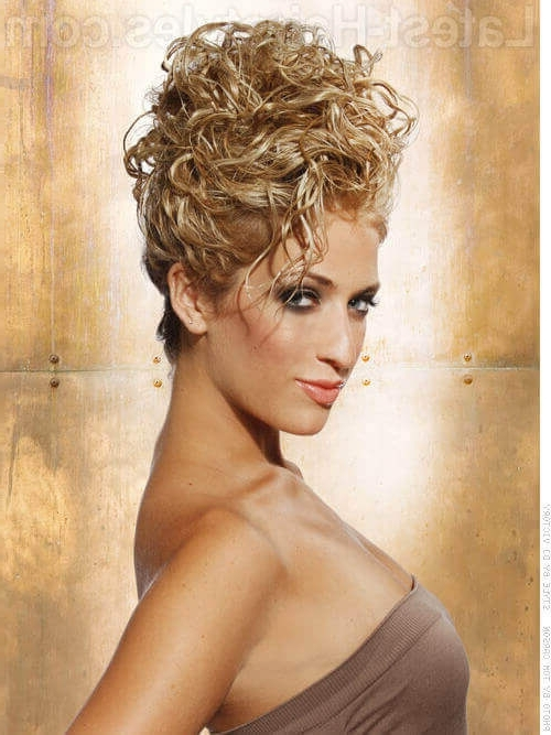 36 Curly Updos For Curly Hair (See These Cute Ideas For 2018) Regarding Recent Wavy Hair Updo Hairstyles (View 3 of 15)