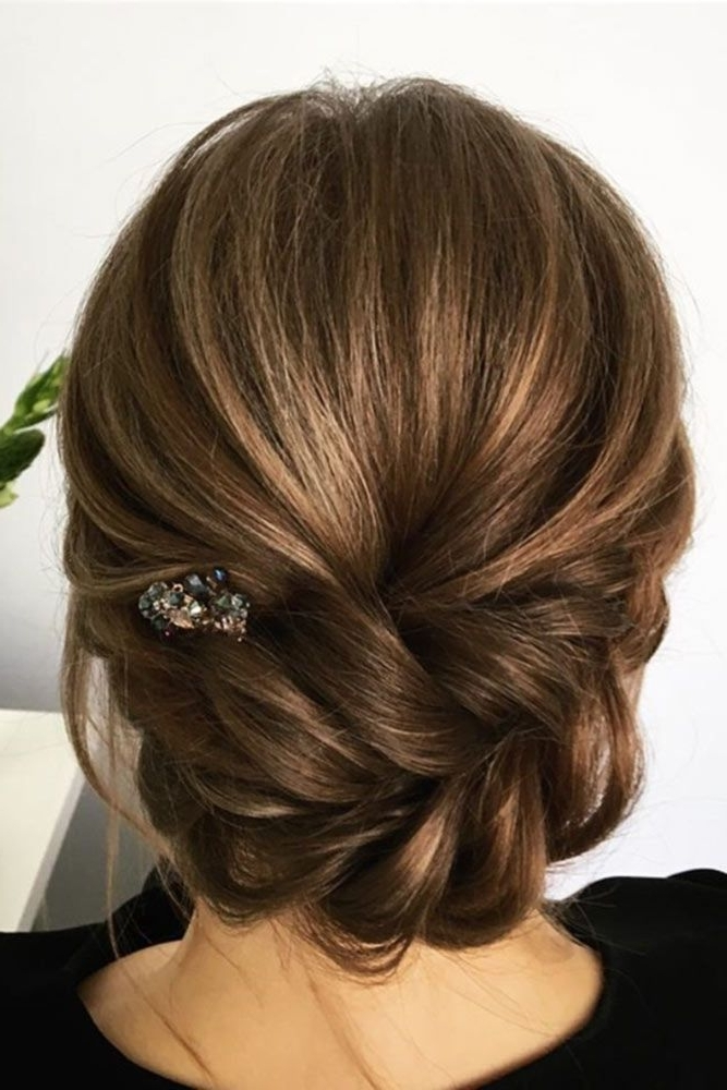 36 Wedding Hairstyles For Medium Hair | Medium Hair, Weddings And Pertaining To Newest Updo Hairstyles For Weddings (View 3 of 15)