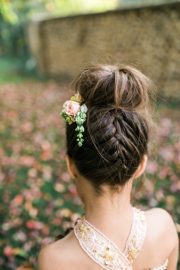 38 Super Cute Little Girl Hairstyles For Wedding | Deer Pearl Flowers Inside Best And Newest Little Girl Updo Hairstyles (View 5 of 15)