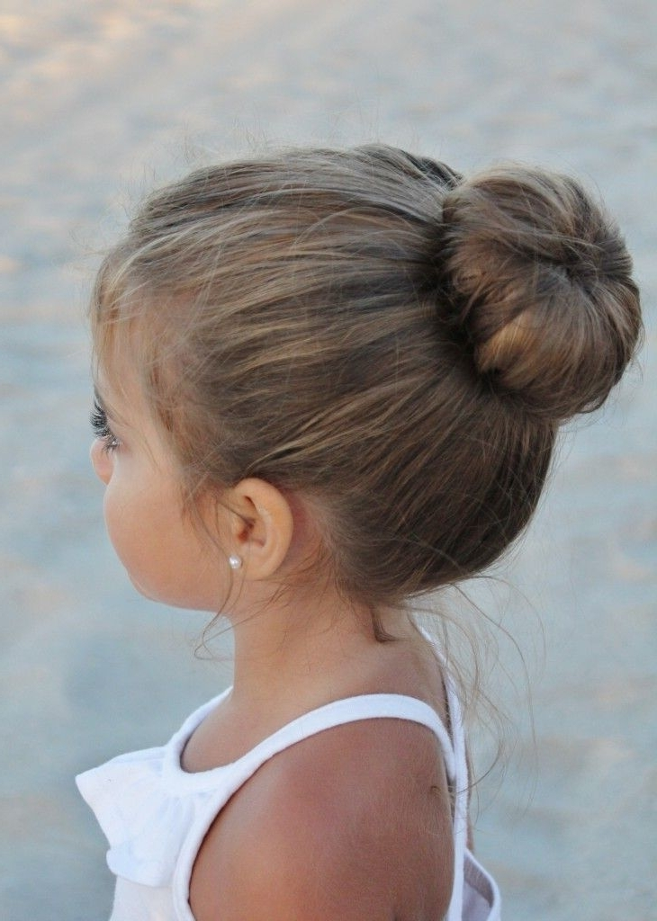 38 Super Cute Little Girl Hairstyles For Wedding | Deer Pearl Flowers Inside Current Little Girl Updo Hairstyles (View 4 of 15)