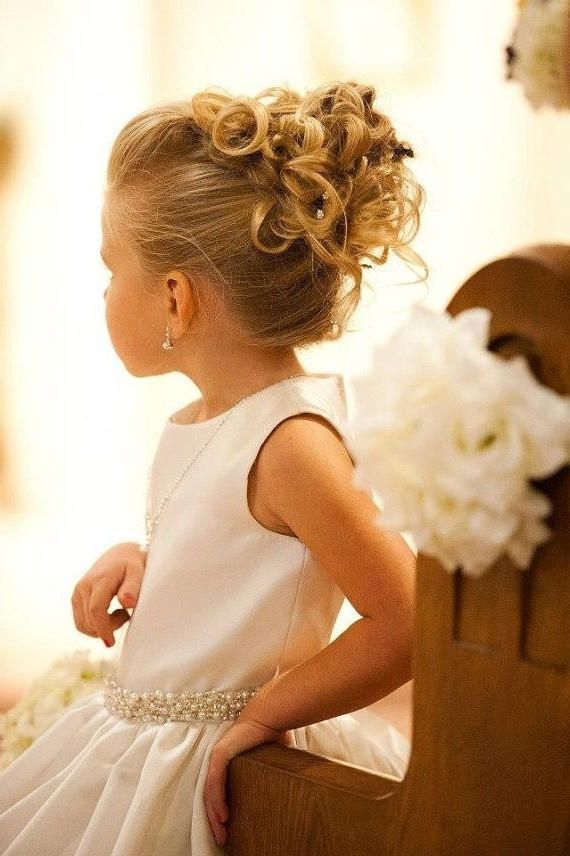 38 Super Cute Little Girl Hairstyles For Wedding | Girl Hairstyles Inside Latest Little Girl Updo Hairstyles (View 3 of 15)