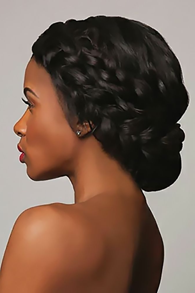 39 Black Women Wedding Hairstyles | Black Women, Medium Hair And Updo For Most Popular Updos For Black Hair (View 4 of 15)