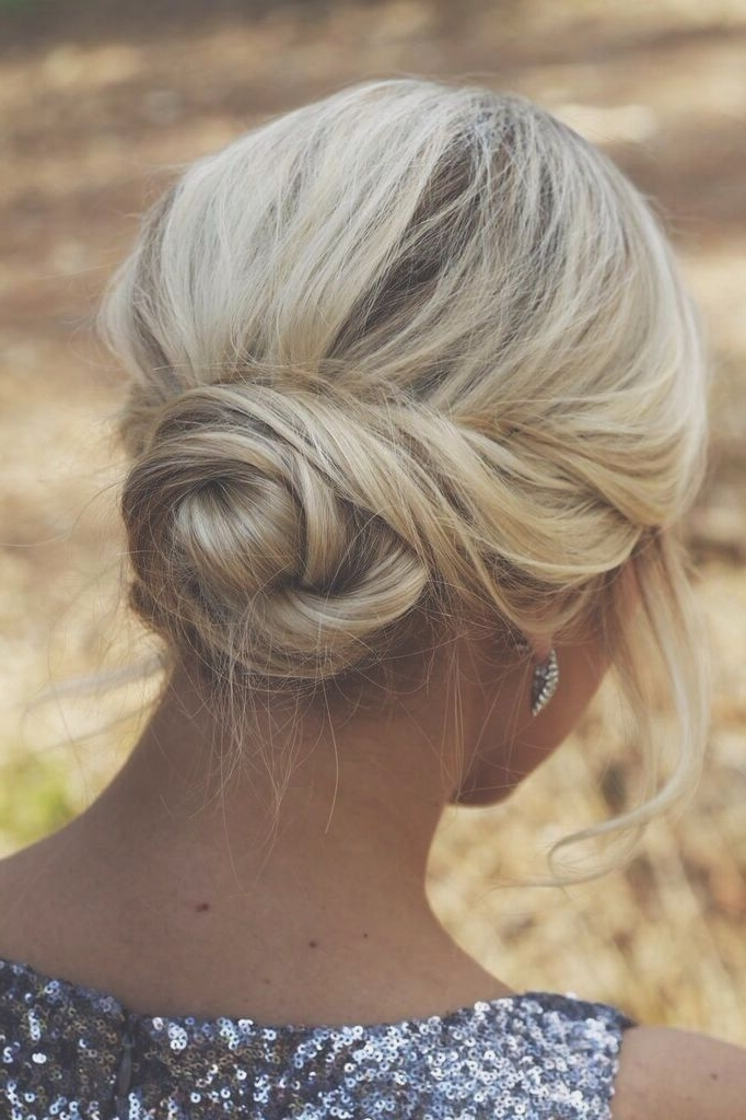 39 Elegant Updo Hairstyles For Beautiful Brides | Chignons, Updo And Inside Most Recent Twisted Bun Updo Hairstyles (View 15 of 15)