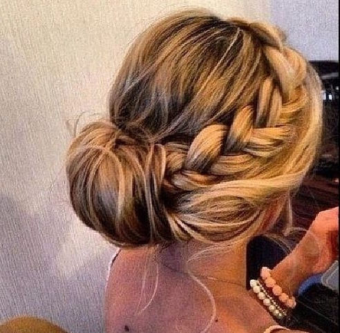 39 Elegant Updo Hairstyles For Beautiful Brides | Updo, Hair Style Regarding Newest Simple Updo Hairstyles For Long Hair (View 2 of 15)