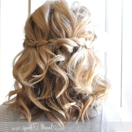 Featured Photo of Curly Half Updo Hairstyles