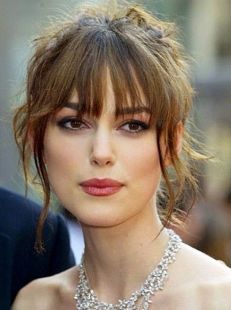 4 Classic Hairstyles For Long Face Shape – Pretty Designs With Newest Updo Hairstyles With Bangs (View 9 of 15)