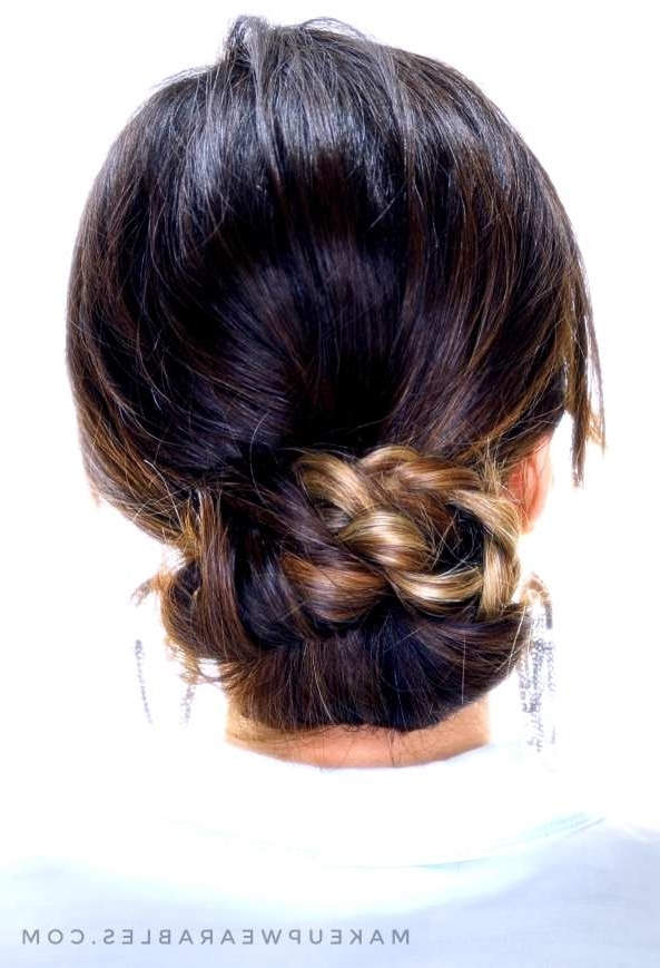 4 Easy Hairstyles For Greasy Hair | Cute Everyday Styles Pertaining To Current Easy Bun Updo Hairstyles For Medium Hair (View 8 of 15)