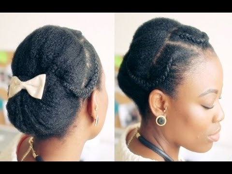 40 African American Black Women Updo Bun Hairstyles – Youtube Pertaining To Most Recently African Updo Hairstyles (View 5 of 15)