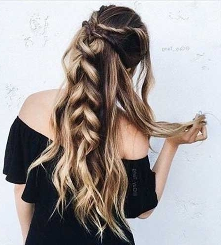 40 Best Braided Hairstyles For Long Hair | Hairstyles & Haircuts In Best And Newest Half Updos For Long Hair (View 6 of 15)