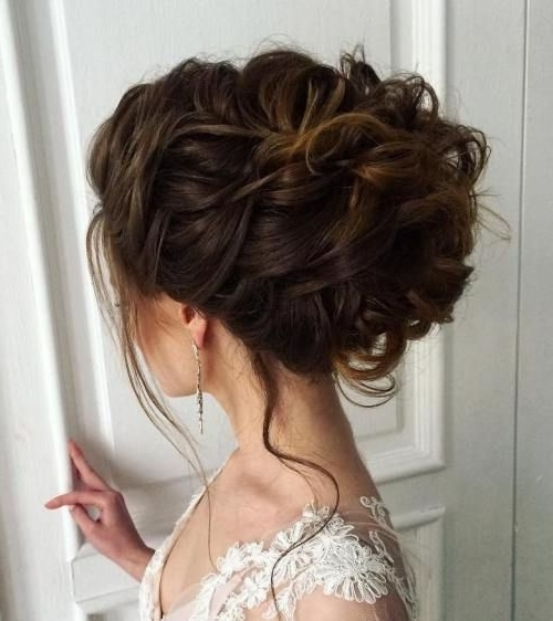 40 Chic Wedding Hair Updos For Elegant Brides | Elegant Bride, Chic In Most Recently Wedding Updos For Thick Hair (View 6 of 15)