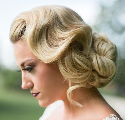 40 Classy Hairstyles For Long Blonde Hair | Finger Waves, Wave Hair Within Most Recent Finger Waves Long Hair Updo Hairstyles (View 4 of 15)