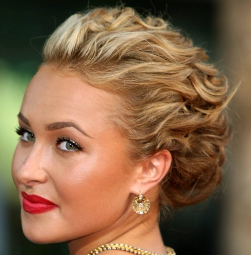 40 Creative Updos For Curly Hair | Updo, Curly And Up Dos In Most Current Updos For Medium Length Curly Hair (View 3 of 15)