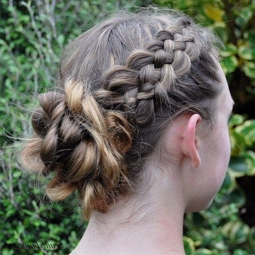 40 Cute And Cool Hairstyles For Teenage Girls | Messy Plaits, Bun In Most Popular Teenage Updo Hairstyles (View 2 of 15)