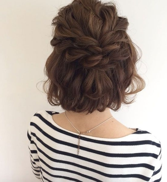 40 Easy Updo Styles For Short Hair | Half Updo, Updo And Hair Style Regarding Most Current Half Updo Hairstyles For Short Hair (View 13 of 15)