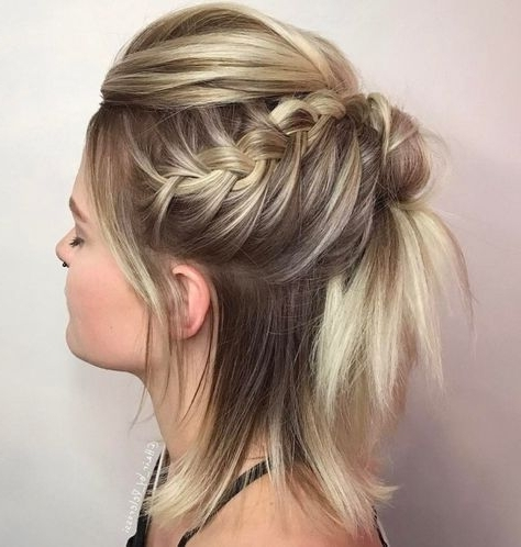 40 Gorgeous Braided Hairstyles For Short Hair   Half Updo, Updo And Bobs Within Recent Funky Updo Hairstyles For Long Hair (View 15 of 15)