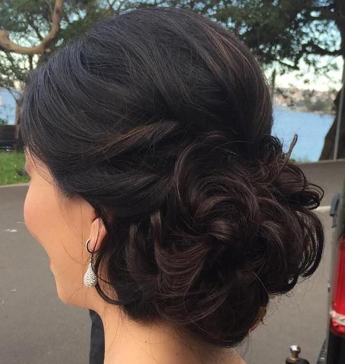 40 Most Delightful Prom Updos For Long Hair In 2018 | Curly Bun Throughout Latest Prom Updo Hairstyles For Long Hair (View 9 of 15)