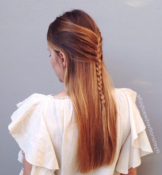40 Picture Perfect Hairstyles For Long Thin Hair | Braided Half Updo With Regard To Recent Updo Hairstyles For Long Fine Straight Hair (View 6 of 15)