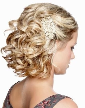 40 Pretty Short Haircuts For Women: Short Hair Styles   Formal With Regard To Most Recent Updo Hairstyles For Short Curly Hair (View 9 of 15)
