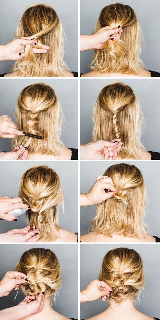 40 Quick And Easy Updos For Medium Hair For Best And Newest Updos For Medium Hair (View 9 of 15)