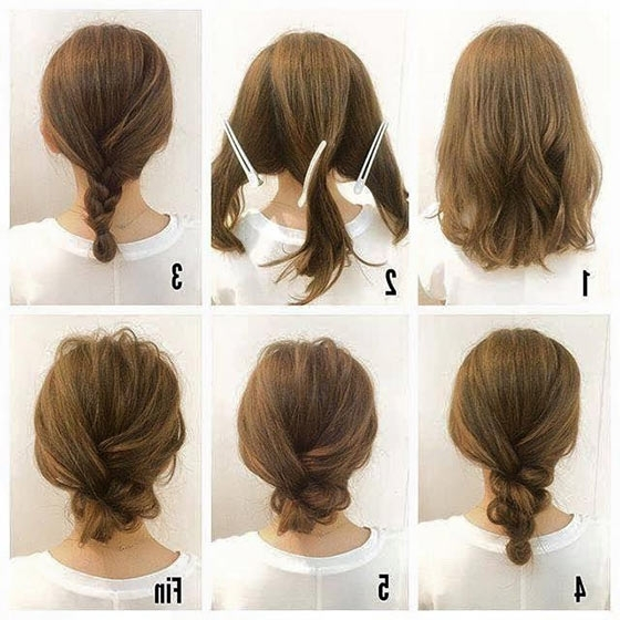 40 Quick And Easy Updos For Medium Hair For Most Up To Date Loose Updo Hairstyles For Medium Length Hair (View 8 of 15)