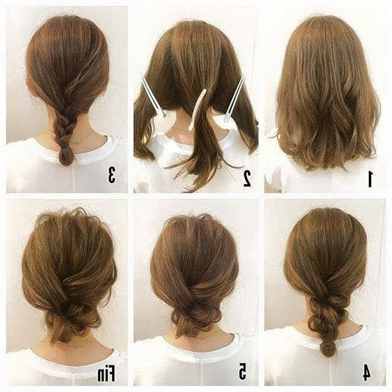 40 Quick And Easy Updos For Medium Hair | Medium Hair, Updos And Low With Regard To Recent Quick And Easy Updo Hairstyles For Medium Hair (View 5 of 15)