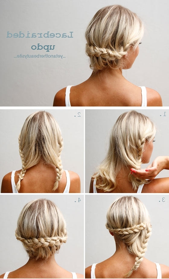 40 Quick And Easy Updos For Medium Hair Throughout Best And Newest Updos For Layered Hair With Bangs (View 7 of 15)