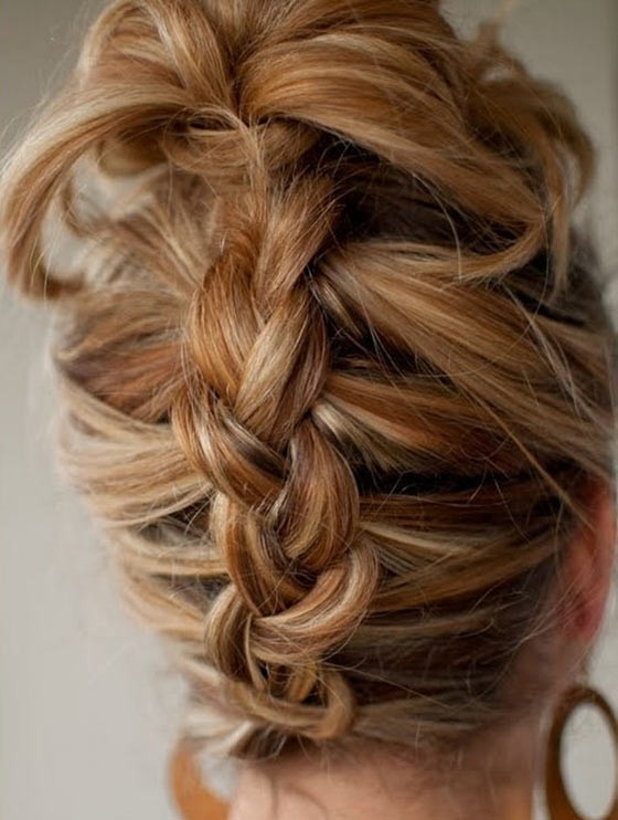 40 Quick And Easy Updos For Medium Hair With Most Recent Easy Braided Updos For Medium Hair (View 14 of 15)