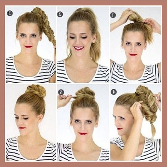 40 Quick And Easy Updos For Medium Hair With Most Up To Date Cute And Easy Updo Hairstyles (View 5 of 15)