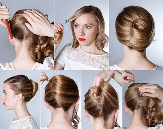 40 Quick And Easy Updos For Medium Hair Within Recent Simple Updo Hairstyles For Long Hair (View 5 of 15)