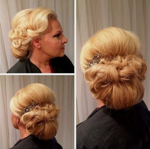 40 Ravishing Mother Of The Bride Hairstyles | Low Chignon, Chignons With Regard To Current Mother Of The Bride Updo Hairstyles For Weddings (View 10 of 15)