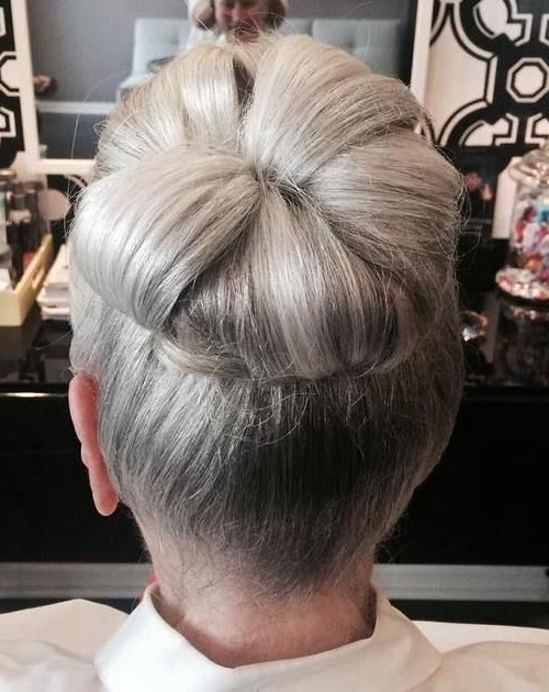40 Stylish Long Hairstyles For Older Women | Gray Hair, Long Grey Intended For Recent Updo Hairstyles For Older Women (View 3 of 15)