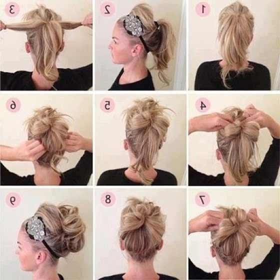 40 Top Hairstyles For Women With Thick Hair Pertaining To Current Casual Updo Hairstyles For Long Hair (View 6 of 15)