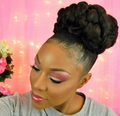 40 Updo Hairstyles For Black Women 2017 | Herinterest/ Within Latest Updo Hairstyles For Black Hair (View 6 of 15)