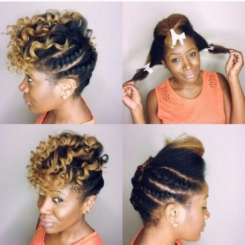 45 Catchy And Pratical Flat Twist Hairstyles | Hair Motive Hair Regarding Latest Twisted Updo Hairstyles (View 1 of 15)
