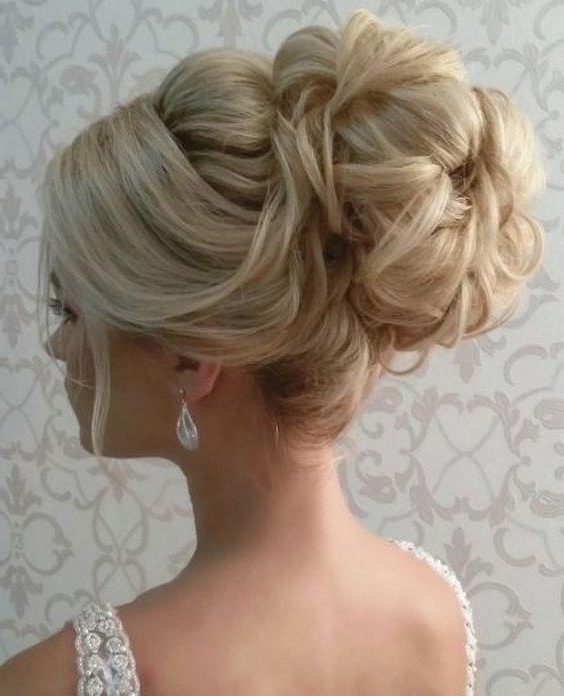45 Most Romantic Wedding Hairstyles For Long Hair | Wedding Updo Inside Most Up To Date Updo Hairstyles For Wedding (View 12 of 15)